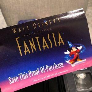 Disney Other Rare Walt S Fantasia Black Diamond Vhs Poshmark